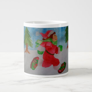 CHRISTMAS GIRL RUNNER JUMBO COFFEE MUG