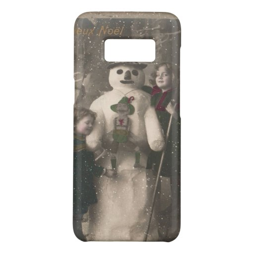 Christmas Girls and Snowman Vintage Photo Case-Mate Samsung Galaxy S8 Case