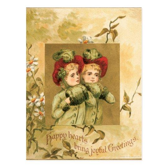 Christmas Girls Postcard