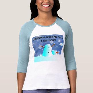 Christmas Gives me such a headache! T-shirts