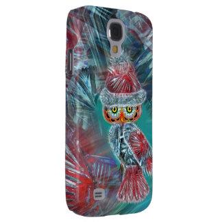 Christmas Glamour Fashion Santa Owl Samsung Galaxy Samsung Galaxy S4 Cover