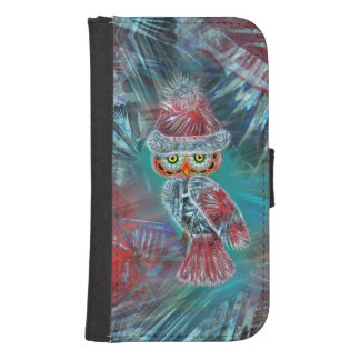 Christmas Glamour Fashion Santa Owl Wallet Case Galaxy S4 Wallets