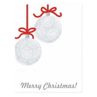 christmas glass balls postcard