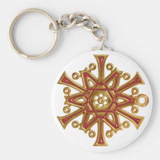 Christmas Glass Snowflake Basic Keychain