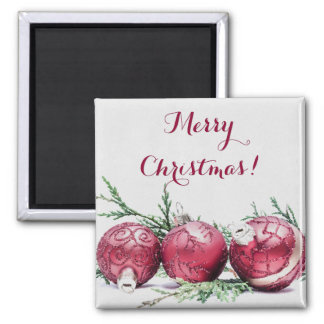 Christmas Glitter Ornaments Oil Painting Magnet