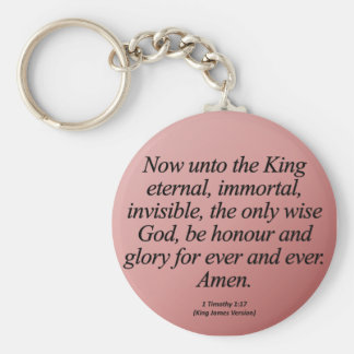 Christmas Glory to God Forever 1 Timothy 1-15 Keychain