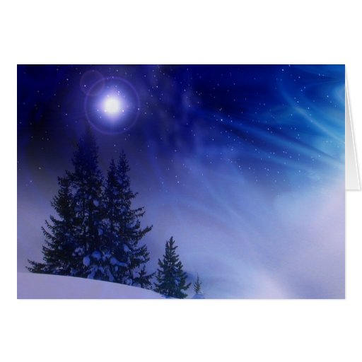 Christmas glow greeting cards