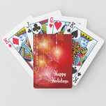 Christmas Glow Hanging Stars Bicycle Playing Cards