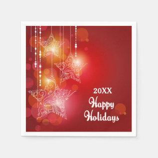 Christmas Glow Hanging Stars Paper Napkin at Zazzle
