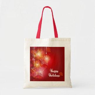 Christmas Glow Hanging Stars Tote Bag