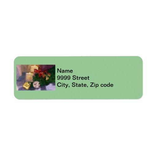 Christmas Glow Return Address Label