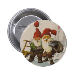 Christmas Gnome Friends Button