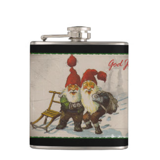 Christmas Gnome Friends Flask