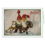 Christmas Gnome Friends Greeting Card