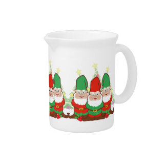 Christmas Gnomes Beverage Pitcher