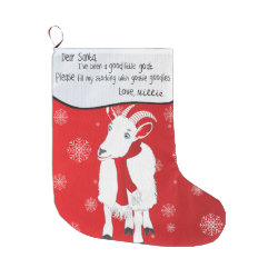 Christmas Goat Dear Santa I have been Good Large Christmas Stocking