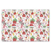 Christmas GOATS Candy and Jingle Bells GetYerGoat™ Tissue Paper