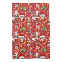Christmas GOATS Candy and Jingle Bells GetYerGoat™ Towel