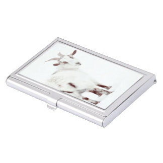 Christmas Goats Case For Business Cards