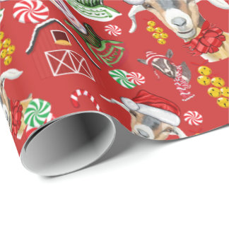 Christmas GOATS Gift Wrap Change Background Color