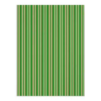 Christmas Gold and Christmas Green Stripes Custom Announcement Cards