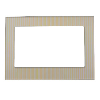 Christmas Gold and Christmas Silver Stripes Picture Frame Magnet