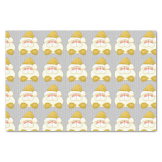 """Christmas Gold and Silver Santa   Tissue Paper 10"""" X 15"""" Tissue Paper"""