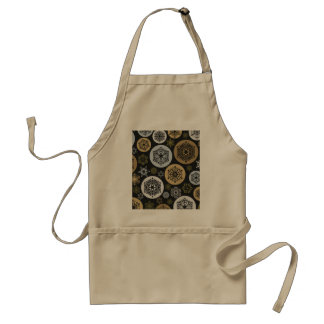 Christmas Gold and Silver Snowflakes Pattern Adult Apron