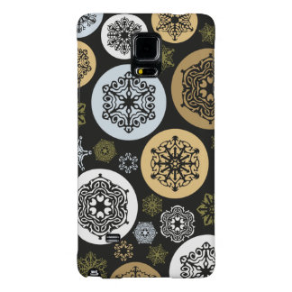 Christmas Gold and Silver Snowflakes Pattern Galaxy Note 4 Case