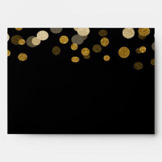 Christmas Gold Faux Glitter Festive Envelopes