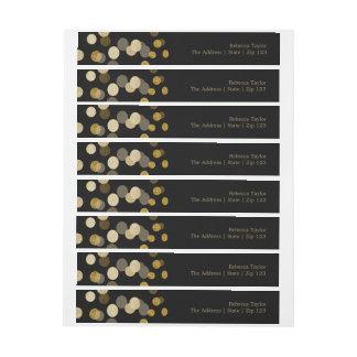 Christmas Gold Faux Glitter Festive Wrap Around Address Label