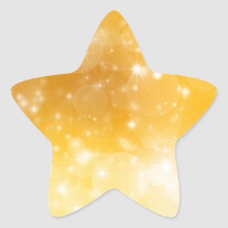 Christmas Gold Golden Background Star Sticker