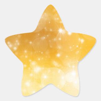 Christmas Gold Golden Background Star Sticker