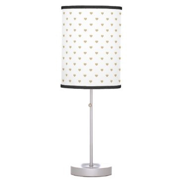 Halloween Themed Christmas Gold Love Hearts on White Table Lamp