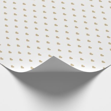 Halloween Themed Christmas Gold Love Hearts on White Wrapping Paper
