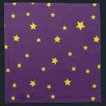 "Christmas Gold Stars on Purple Napkins<br><div class=""desc"">Christmas Gold Stars on Purple Napkins. Great for christmas dining.</div>"
