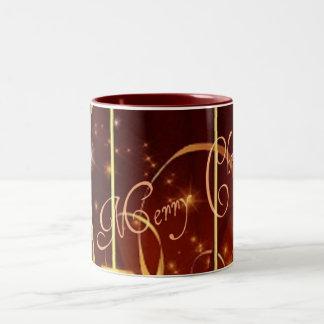 Christmas Gold Swirls Starburst Mug