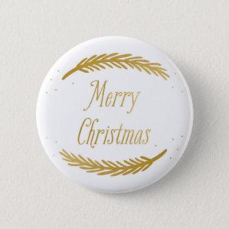 Christmas Golden Branches Button