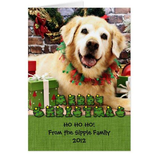 Christmas - Golden Retriever - Abby Greeting Card