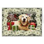 Christmas - Golden Retriever - Abby Greeting Cards