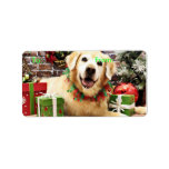 Christmas - Golden Retriever - Abby Personalized Address Labels