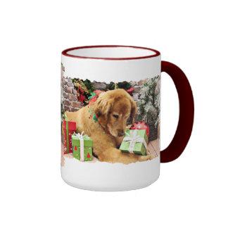 Christmas - Golden Retriever - Addison Ringer Mug
