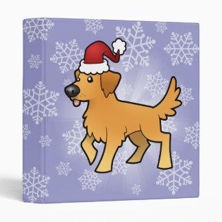 Christmas Golden Retriever Binder