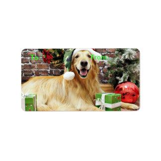 Christmas - Golden Retriever - Conor Address Label