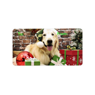 Christmas - Golden Retriever - Hudson Address Label
