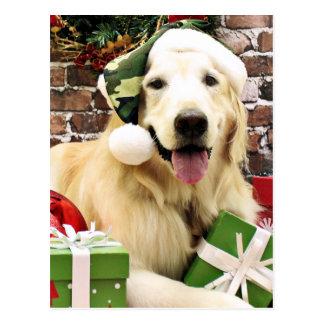 Christmas - Golden Retriever - Hudson Postcard