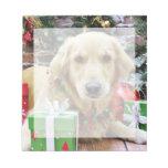 Christmas - Golden Retriever - Iris Note Pads