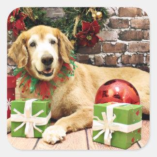 Christmas - Golden Retriever - Izzy Square Sticker