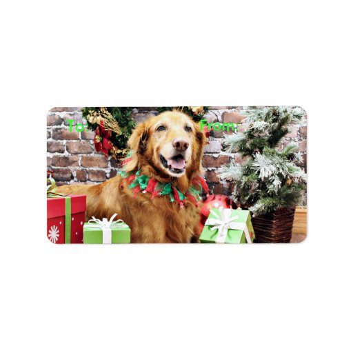 Christmas - Golden Retriever - Lexie Address Label