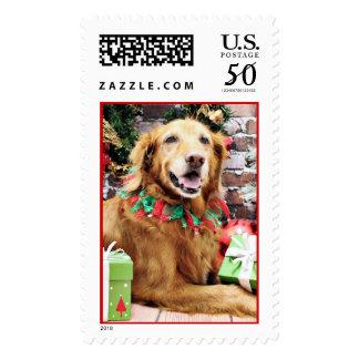 Christmas - Golden Retriever - Lexie Postage